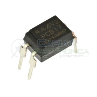 5 PEZZI Optoisolatore Fotoaccoppiatore PC817C SHARP Optocoupler 4 PIN  1,00€