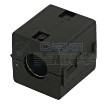 FILTRO FERRITE NERO PER CAVI CONTRO ELIMINA INTERFERENZE DIAMETRO 13 mm Ferrico