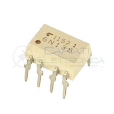 Optoisolatore Fotoaccoppiatore 6N138 Thoshiba Optocoupler 8 PIN