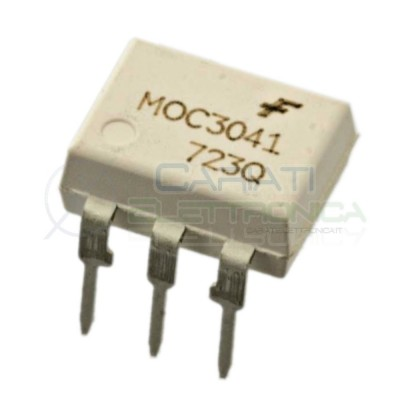2 PEZZI Optoisolatore Fotoaccoppiatore MOC3041M Fairchild Optocoupler 6 PIN