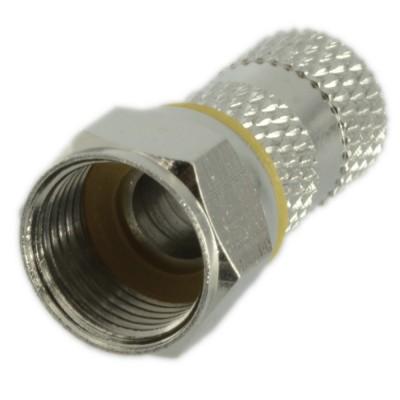 10 Pezzi Connettore F da 6mm Doppia Guarnizione per cavo coassiale antenna TV Spinotto F Zodiac