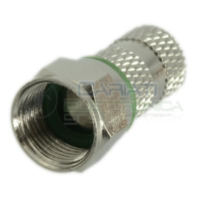10 pcs Screw Twist F-Connector 6,8mm Fit Satellite TV Coax Coaxial CableZodiac