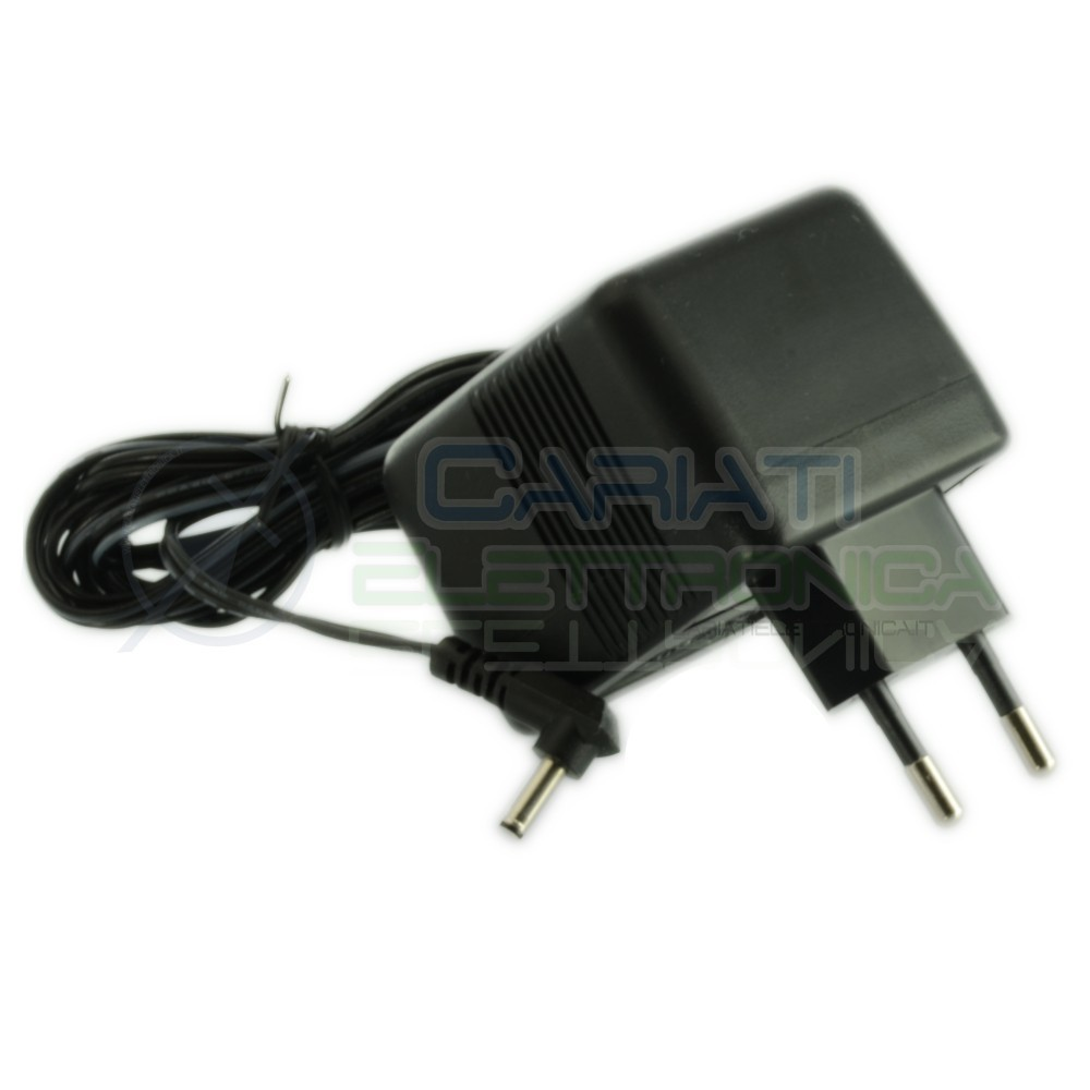 Power supply 12V 600mA Dc 7,2VA with connector Dc 3.4/1.3mm