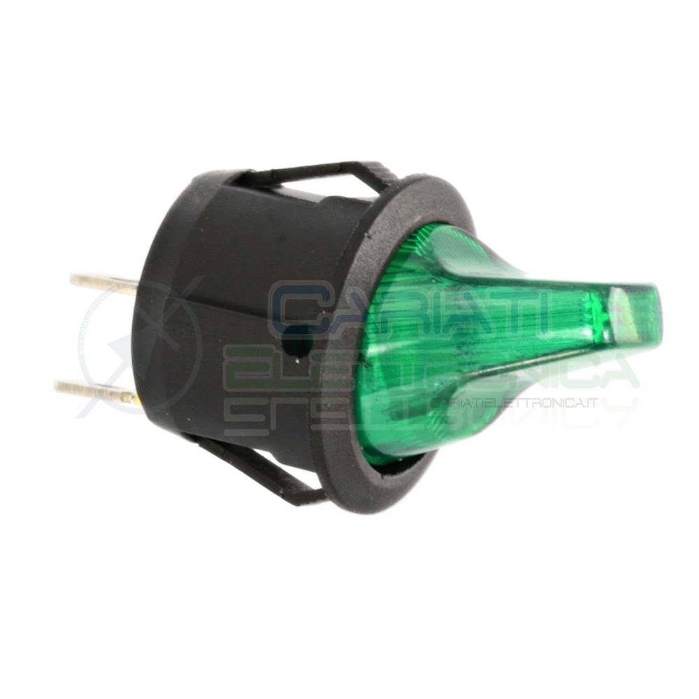Interruttore Leva Verde da pannello ON OFF 6A 250V