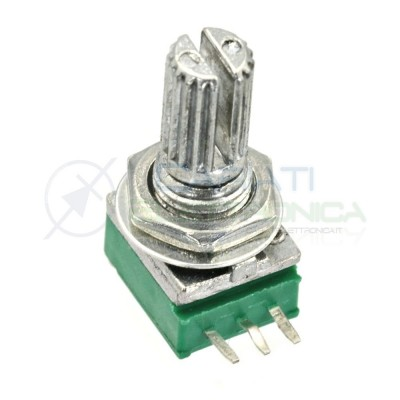 1 Pezzo Potenziometro Lineare 100 Kohm B100K RK097N 15mm Audio Amplificatore