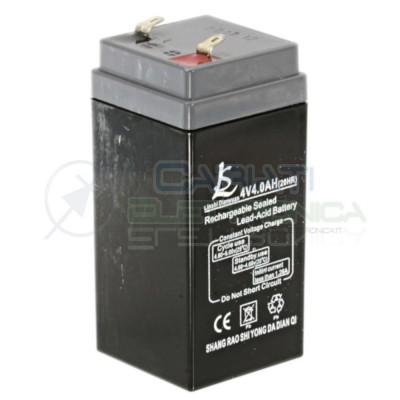 Batteria al piombo ricaricabile 4V 4ah ricambio Bilancia elettronica 4 Volt Generico