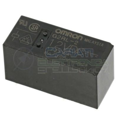 Relè doppio 2 scambio Omron G2RL-2 12VDC 12V DC 8A 250V DPDT Omron 2,49€