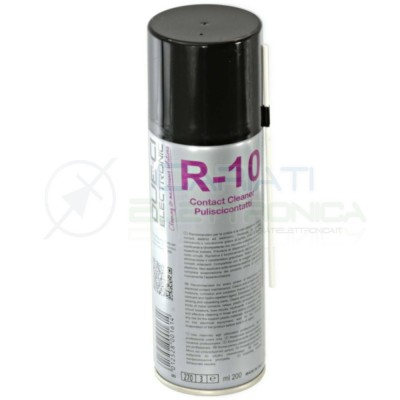 R-10 200ml DUE-CI SPRAY PULISCI CONTATTI R10 ORIGINALE !!! Due-Ci