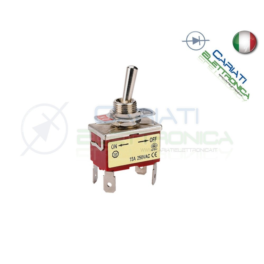 5 PEZZI Interruttore Deviatore a Leva DPST ON OFF 15A 250V 4 Pin 13,00 €