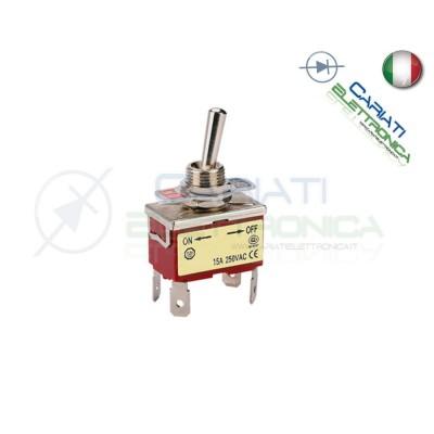 10 PEZZI Interruttore Deviatore a Leva DPST ON OFF 15A 250V 4 Pin