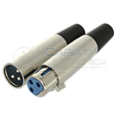 Kit connettore plug xlr Canon 3 pin maschio femmina presa microfonica Elcart