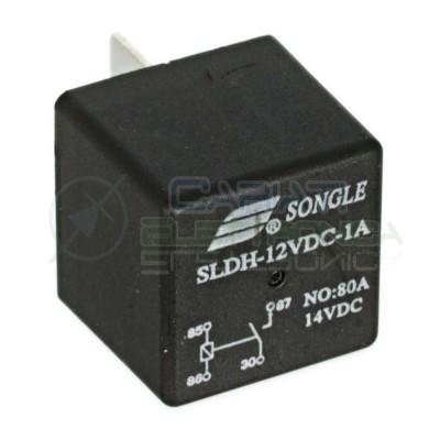 SLDH-12VDC-1A Relè Relay Relais 12V 80A SPST 4 Pin Contatti Universale Luci Auto Moto Nautica Songle