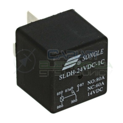 SLDH-24VDC-1C Relè Relay Relais 24V 60A 80A 14VDC SPDT 5 Pin Auto Moto Nautica Songle