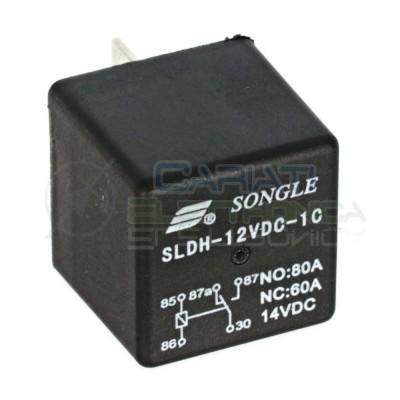Relè SLDH-12VDC-1C 12V 60A 80A 14VDC SPDT 5 Pin Contatti Universale Luci Auto Moto Nautica Songle