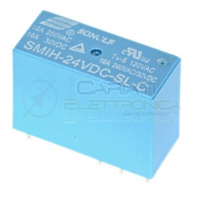 Relè Songle SMIH-24VDC-SL-C con bobina da 24Vdc 16A 30Vdc 16A 250Vac SPDT 1,79 €