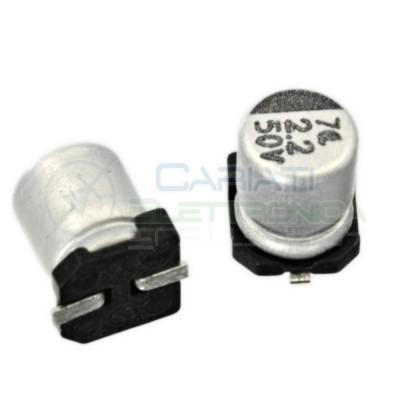 20 PEZZI Condensatore elettrolitico in SMD 2,2uF 50V 20% 4x5mm 85°C SAMWHA 2,2 uF