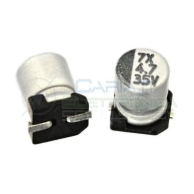 20 PEZZI Condensatore elettrolitico in SMD 4,7uF 35V 20% 4x5mm 85°C SAMWHA 4,7 uF  0,90€