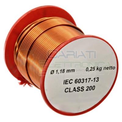 Rotolo filo Cavo bobina di rame singolarmente smaltato da 1,18mm 0,25Kg per avvolgimentiSynflex