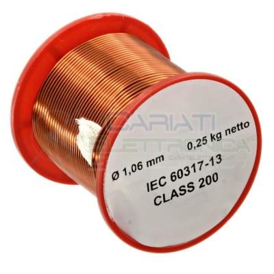 Rotolo filo di rame 1,06 mm 0,25 Kg singolarmente smaltato da per avvolgimenti Cavo bobina 250 gr Generico