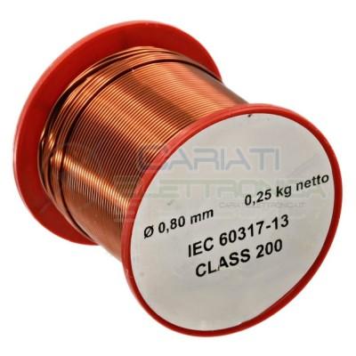Rotolo filo Cavo bobina di rame singolarmente smaltato da 0,8mm 0,25Kg per avvolgimentiSynflex