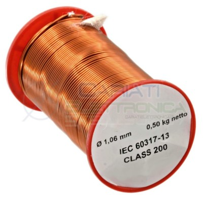 Coil wire single coated enamelled 1,06mm 500gGenerico