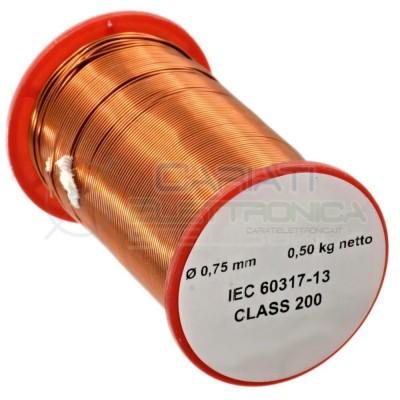 Rotolo filo Cavo bobina di rame singolarmente smaltato da 0,75mm 0,5Kg per avvolgimentiGenerico