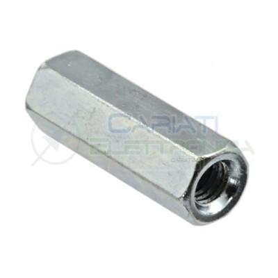 4 Pezzi Distanziali M8 13X40mm F/F in Acciaio Zincato DIN 6334 Manicotto EsagonaleAmbrovit