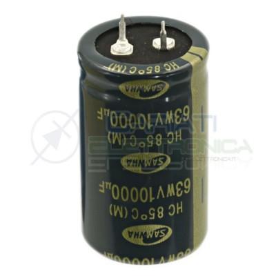 Condensatore Elelettrolitico SNAP-IN 10000uF 63V 30x50 85° PASSO 10mm SAMWHA Samwha