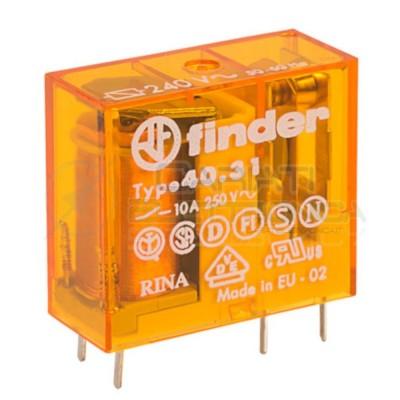 Relè FINDER 40.31.8.230.0000 con bobina da 230Vac 10A 30Vdc 10A 250Vac SPDT Finder