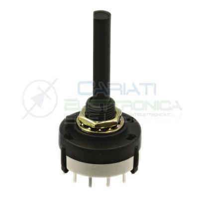 Selettore rotativo 2 vie 6 posizioni Commutatore con Albero 29mm 2,59 €