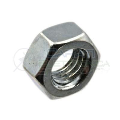 100 PEZZI Dado M8 ZINCATO in Metallo 6S UNI 5588 PG Distanziali Dadi