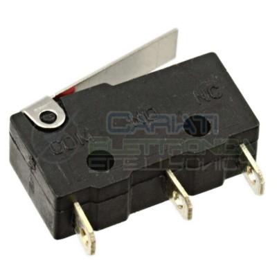 2 Pezzi MicroSwitch a leva Pulsante Fine Corsa Micro Switch Pulsante a leva