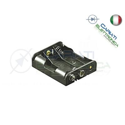 Porta Batterie Per 3 Pile Pila AA con Attacco Snap