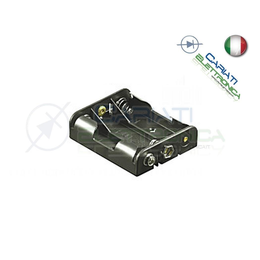 Porta Batterie Per 3 Pile Pila AA con Attacco Snap  1,20€
