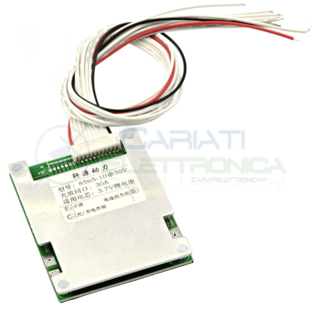 BMS Circuito di protezione 36V 30A per 10 batterie 18650 agli ioni di Litio Li-ion 18,99 €