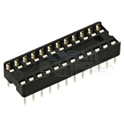 10 Pezzi Zoccolo Zoccoli Doppia Molla 24 Pin per circuiti integrati DIL  1,20€