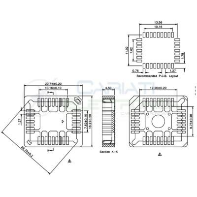 2 Pezzi Zoccolo Zoccoli PLCC 32 pin SMD socket per circuiti integrati  1,09€