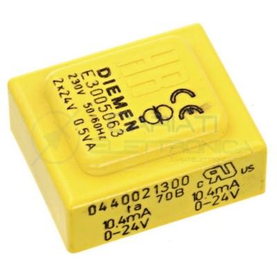 Trasformatore alimentatore incapsulato doppia uscita 2x 24V dc 0,5VA Ingresso 230V Ac  2,30€