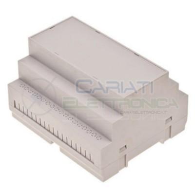 Contenitore Custodia DIN 105x90x65 mm per Quadro elettrico Guida DIN Grigio Domotica