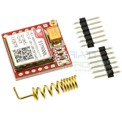 Modulo scheda SIM800L GPRS GSM PCB Antenna SIM Quad band per MCU Arduino  10,99€