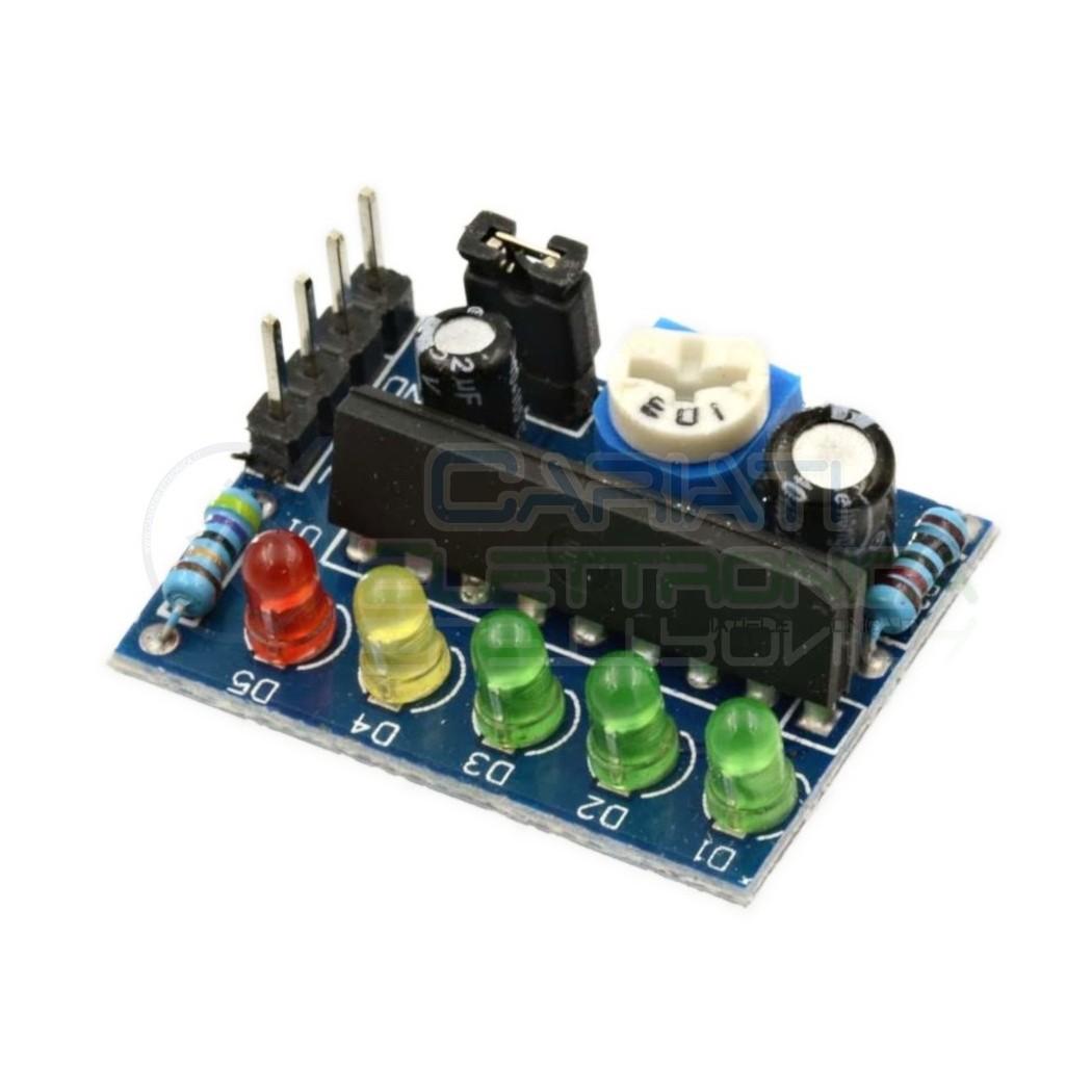 Modulo indicatore di livello Batteria Audio Frequenza KA2284 Arduino