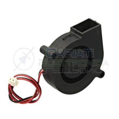 Ventola turbo 24V 0,12A 50x50x15mm raffreddamento stampante 3D Generico