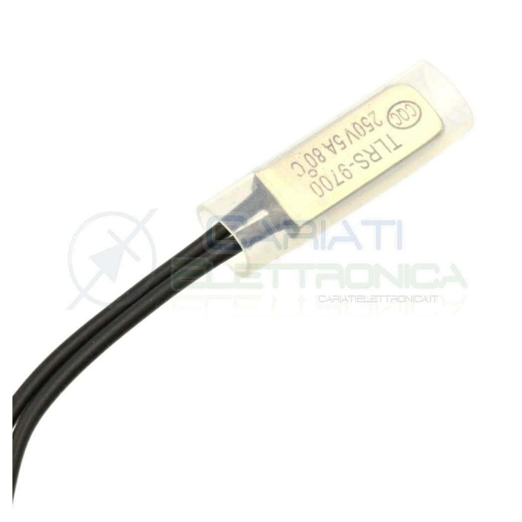 Termostato Sensore di Temperatura N.C. 80°C Interruttore Termico  1,39€