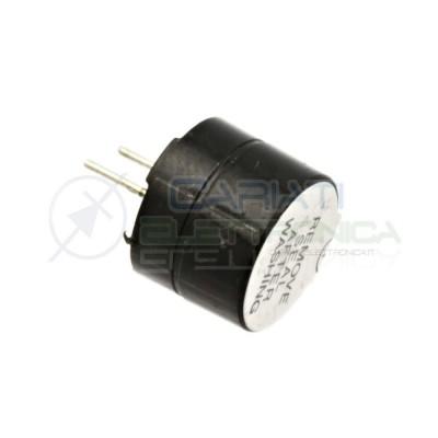 Cicalino Buzzer attivo 12x9,5 mm 12V Con Oscillatore Integrato  0,80€