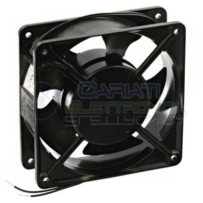 Ventola assiale in alluminio 120 x 120 x 38 mm 220V AC Dissipazione Ventilazione  7,49€