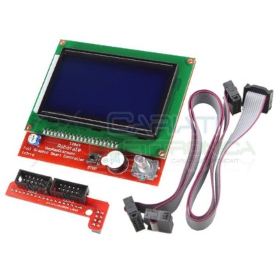 Display 128x64 Reprap Mendel Prusa Ramps 1.4 LCD Printer Stampante 3D Arduino 15,99 €
