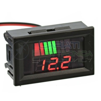 INDICATORE DI CARICA VOLTMETRO Display led per batterie al piombo 48V Generico