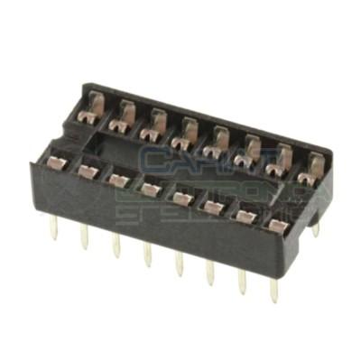 10 Pezzi Zoccolo Zoccoli Doppia Molla 16 Pin per circuiti integrati DIL  0,79€