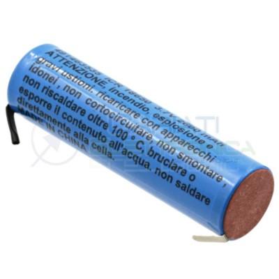 BATTERIA RICARICABLE PILA 18650 2000mah 3.7v li-ion MKC con terminali a saldare Lg 3,99 €