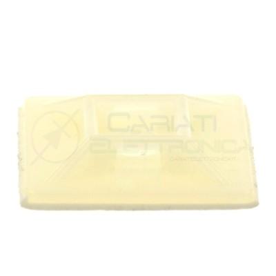 100 PEZZI Supporto Adesivo per Fascette Cablaggi PortaFascette 28 x 28